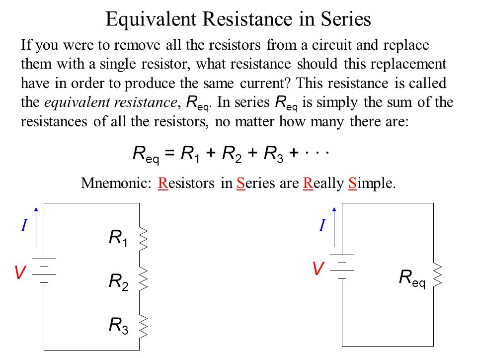 Equivalent Resistance in Series