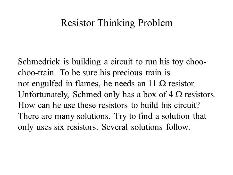 Resistor Thinking Problem