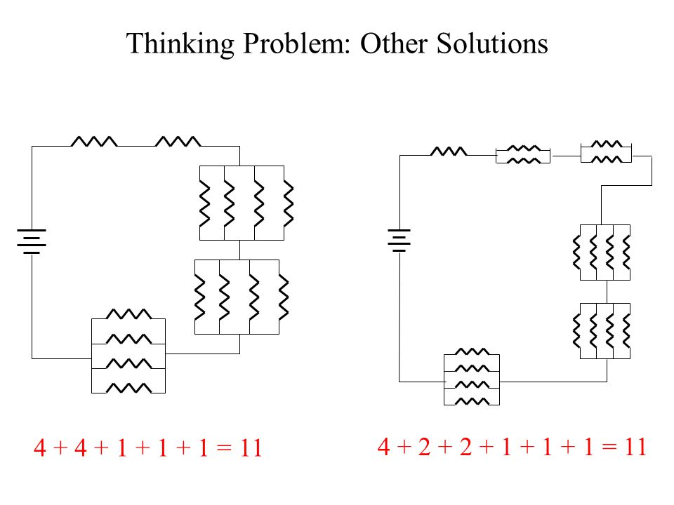 Thinking Problem: Other Solutions