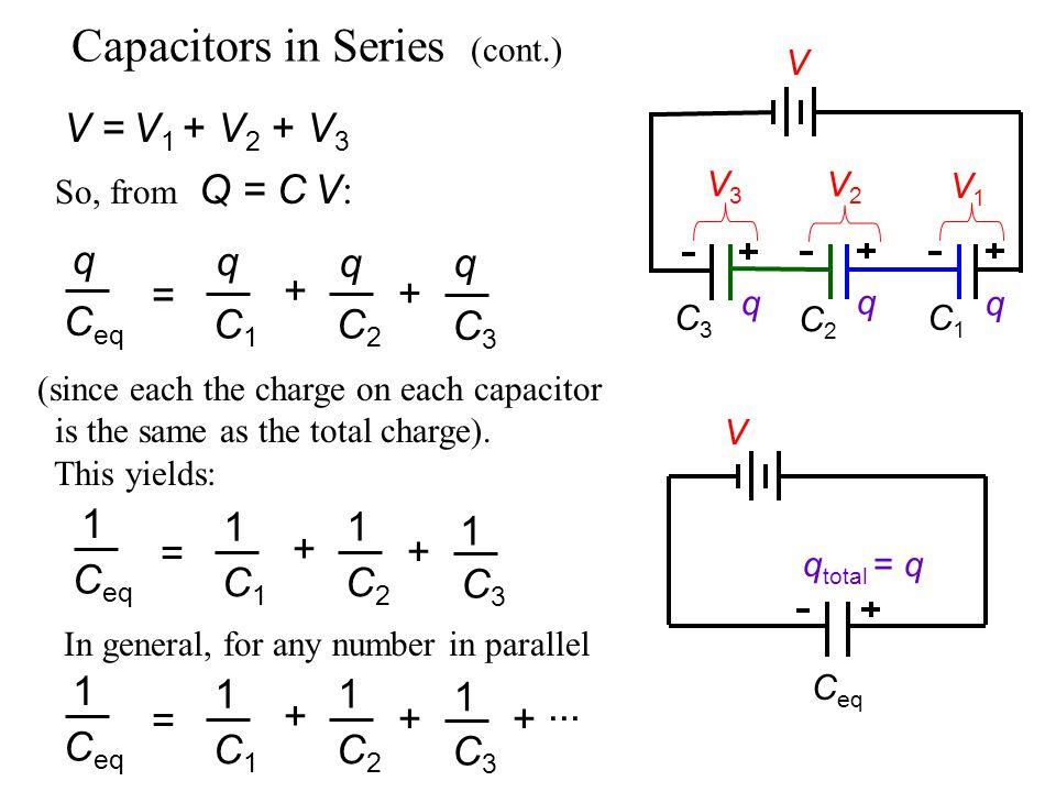 Capacitors in Series (cont.)