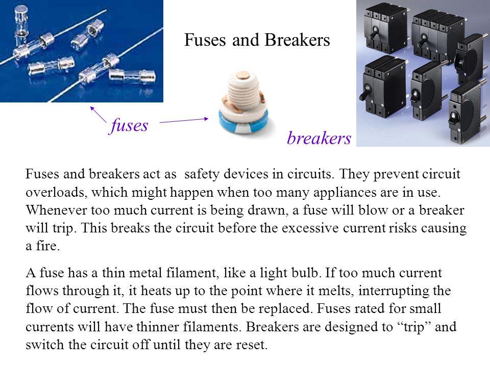 Fuses and Breakers fuses breakers