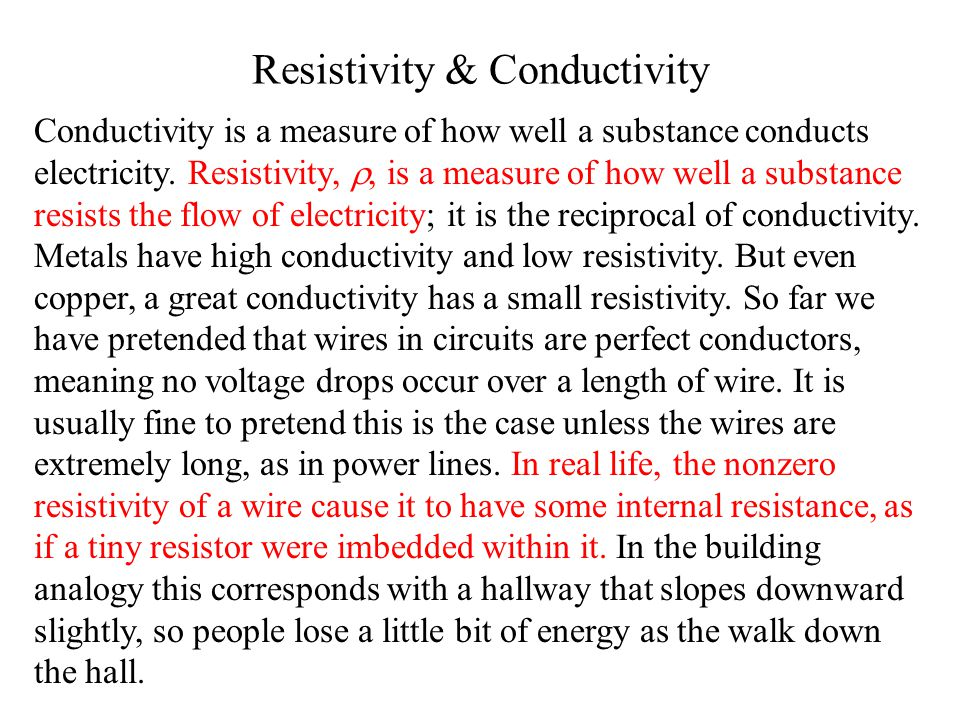 Resistivity & Conductivity