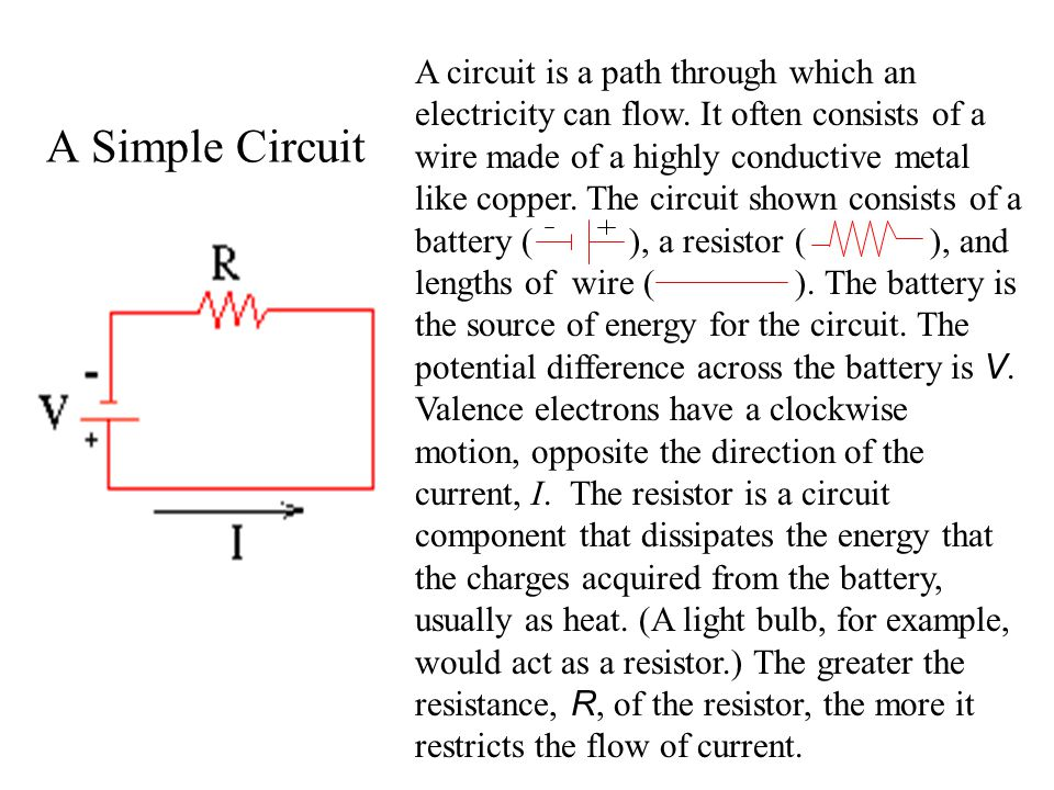 A circuit is a path through which an electricity can flow