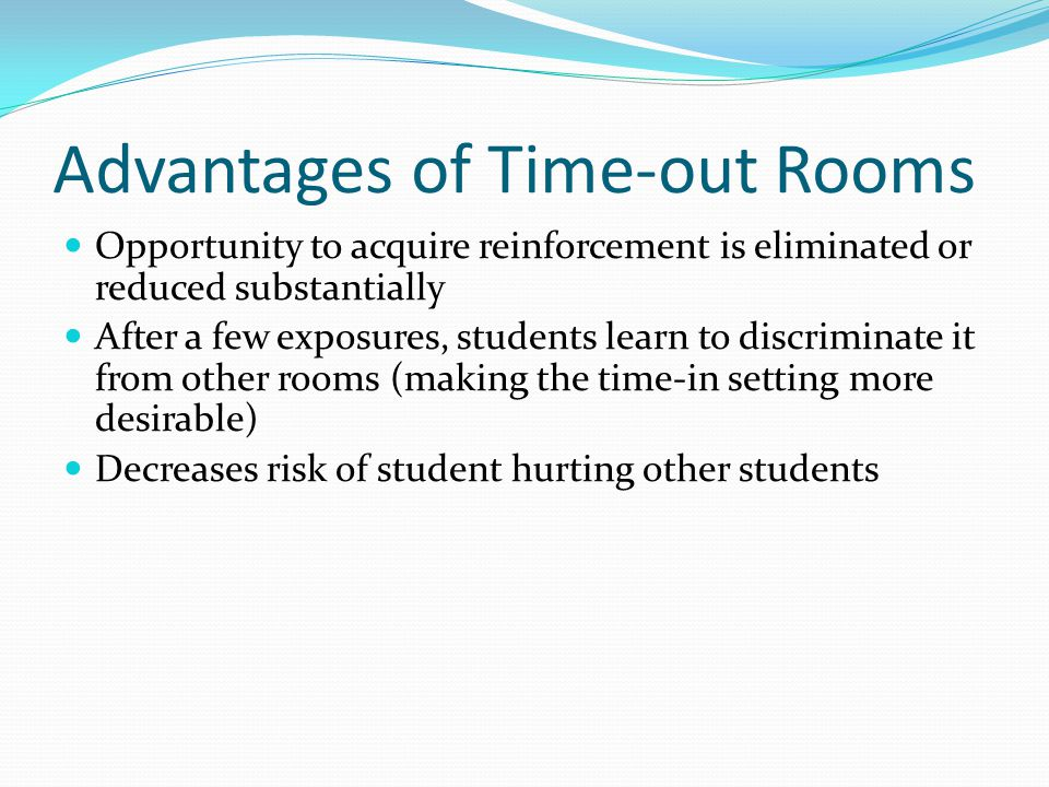 Advantages of Time-out Rooms