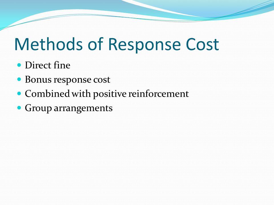 Methods of Response Cost