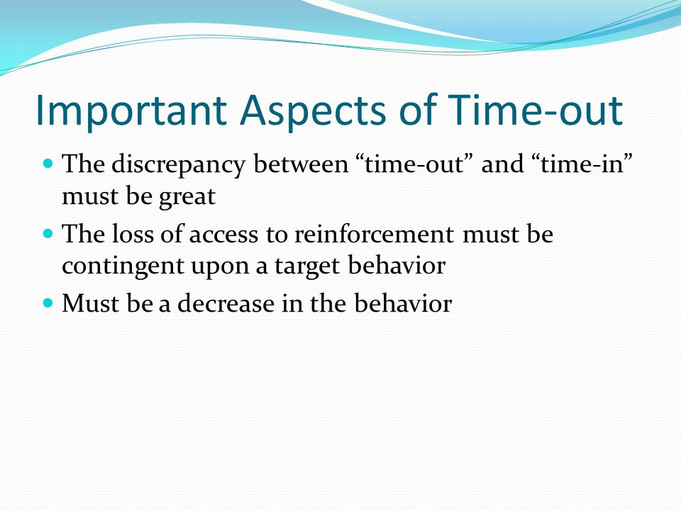 Important Aspects of Time-out