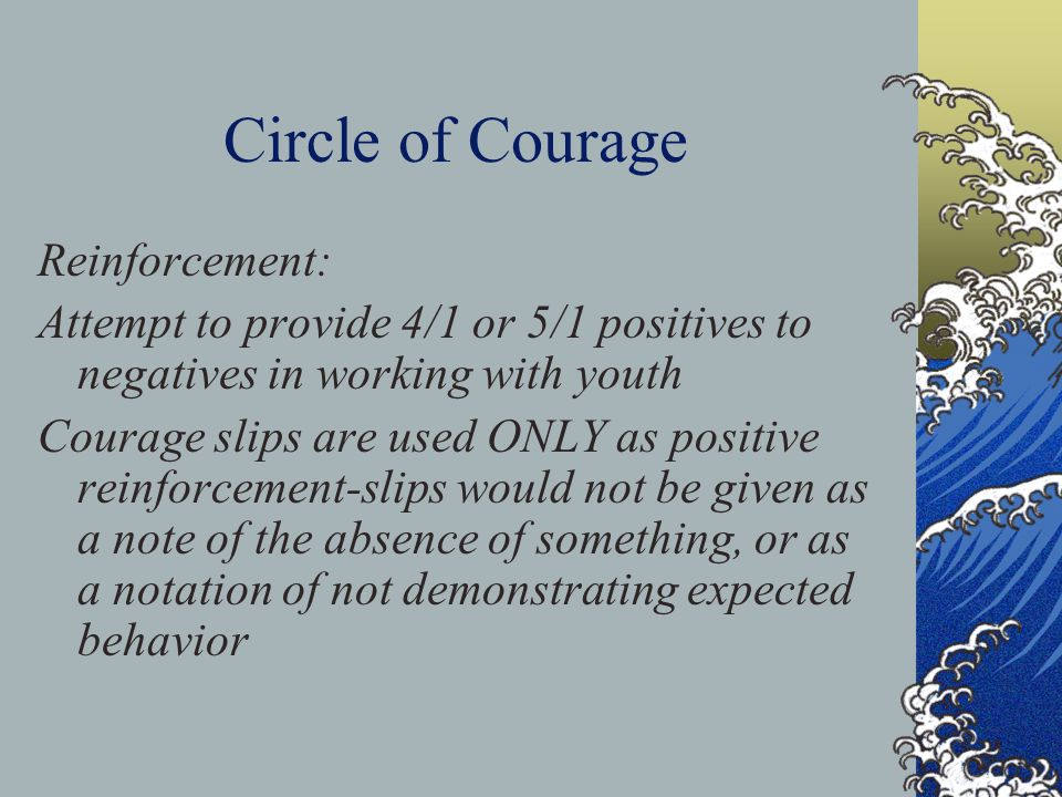 Circle of Courage Reinforcement: