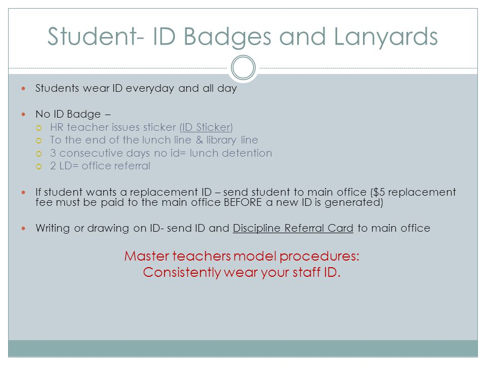 Student- ID Badges and Lanyards