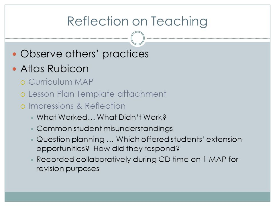 Reflection on Teaching