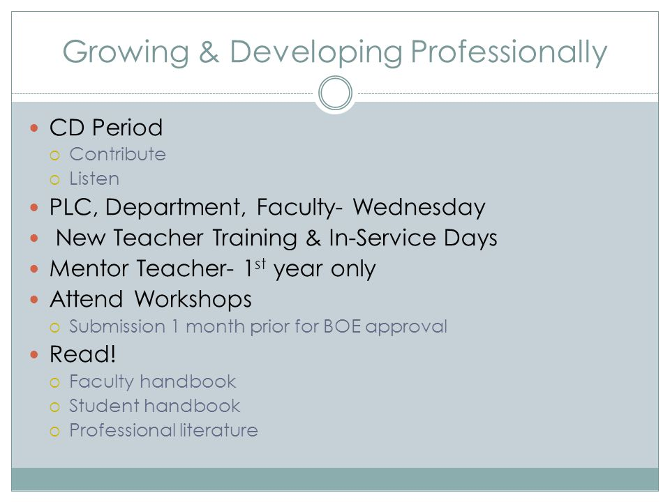 Growing & Developing Professionally