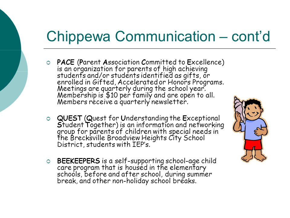 Chippewa Communication – cont'd