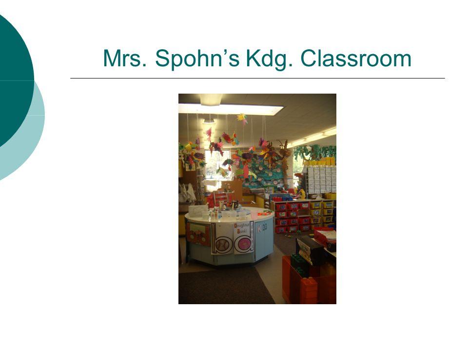 Mrs. Spohn's Kdg. Classroom