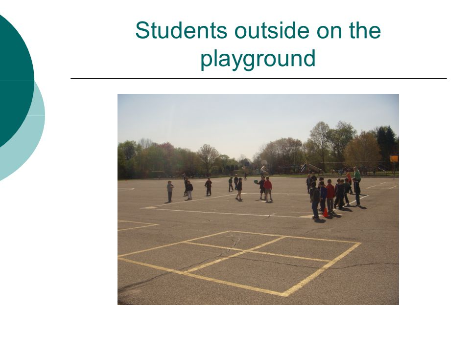 Students outside on the playground
