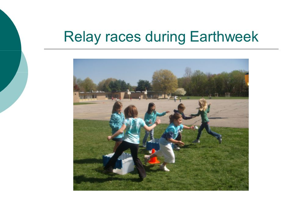 Relay races during Earthweek