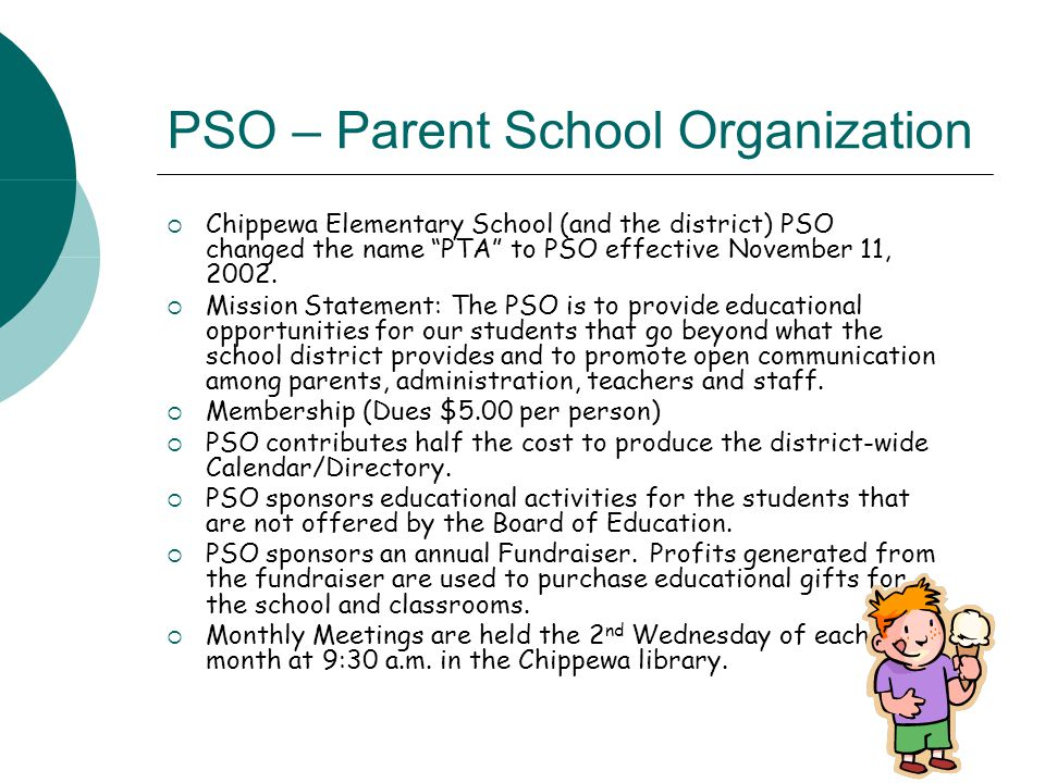 PSO – Parent School Organization