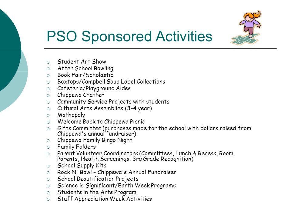 PSO Sponsored Activities