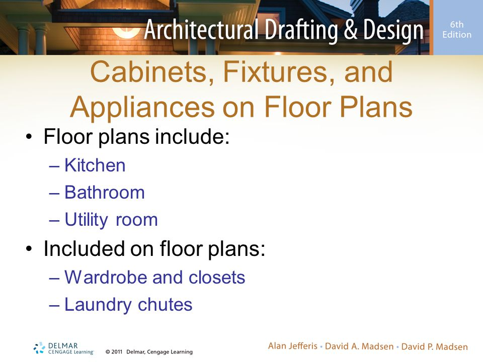 Cabinets, Fixtures, and Appliances on Floor Plans