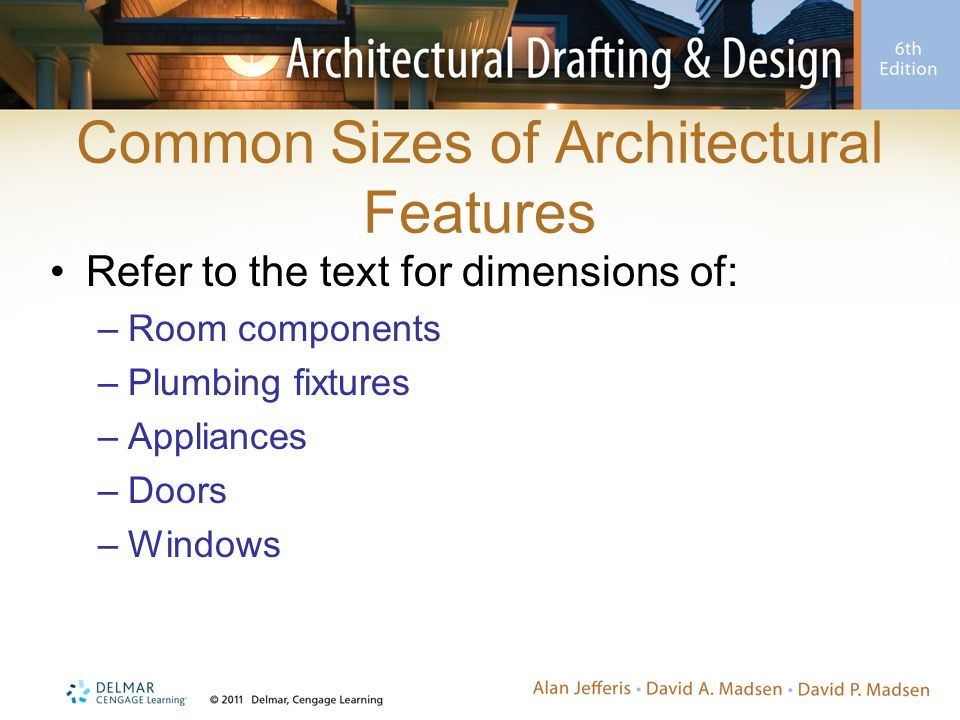 Common Sizes of Architectural Features