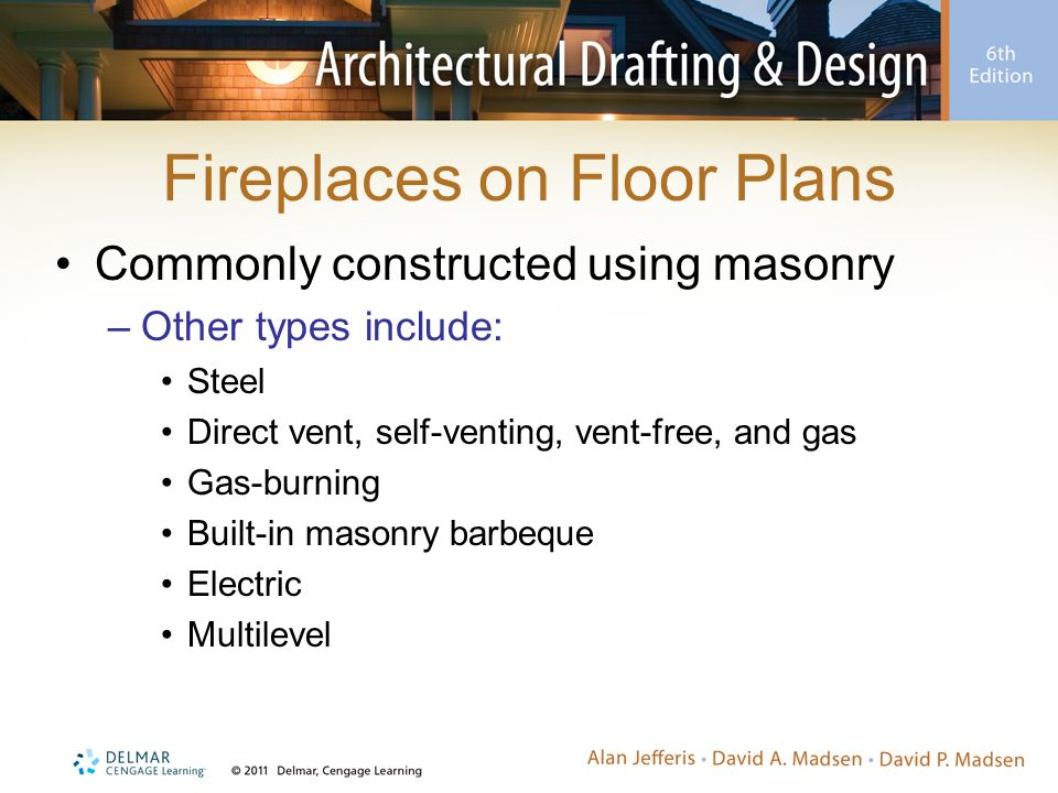 Fireplaces on Floor Plans