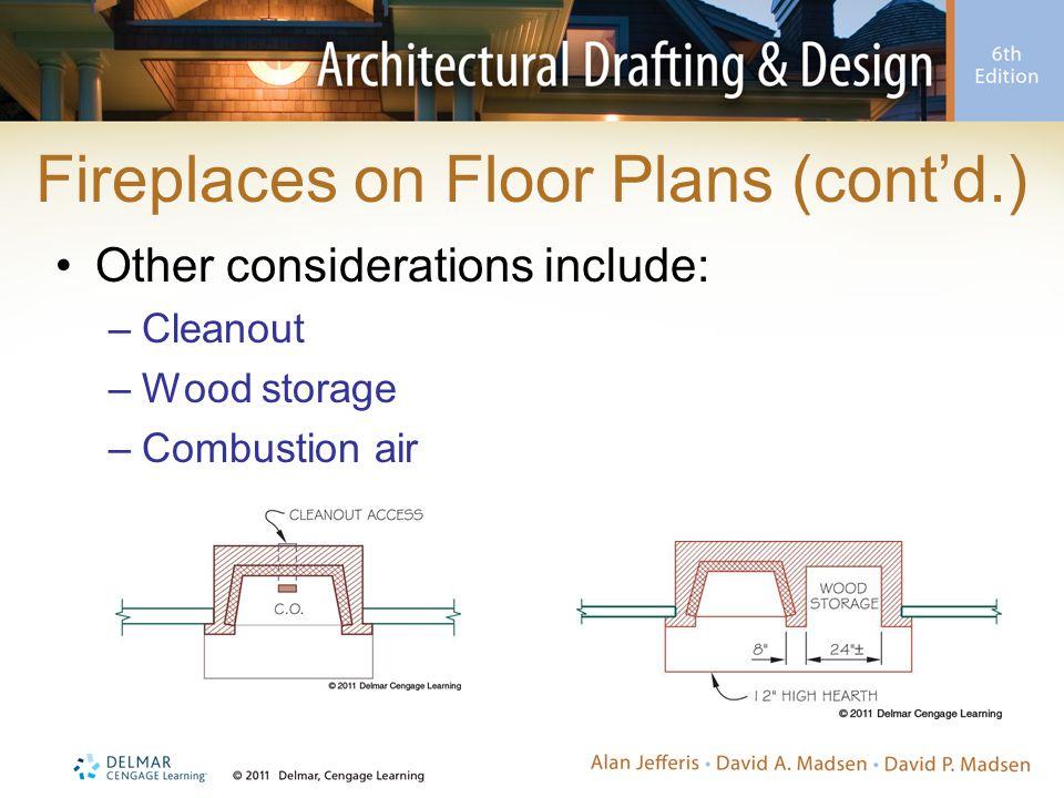 Fireplaces on Floor Plans (cont'd.)
