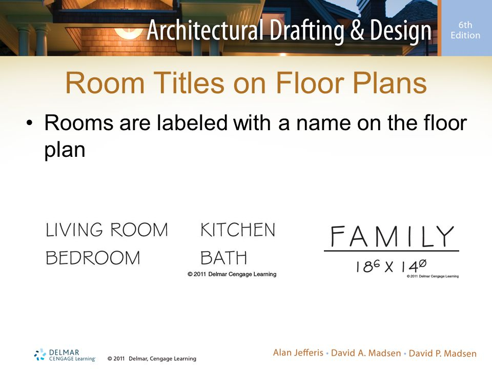 Room Titles on Floor Plans