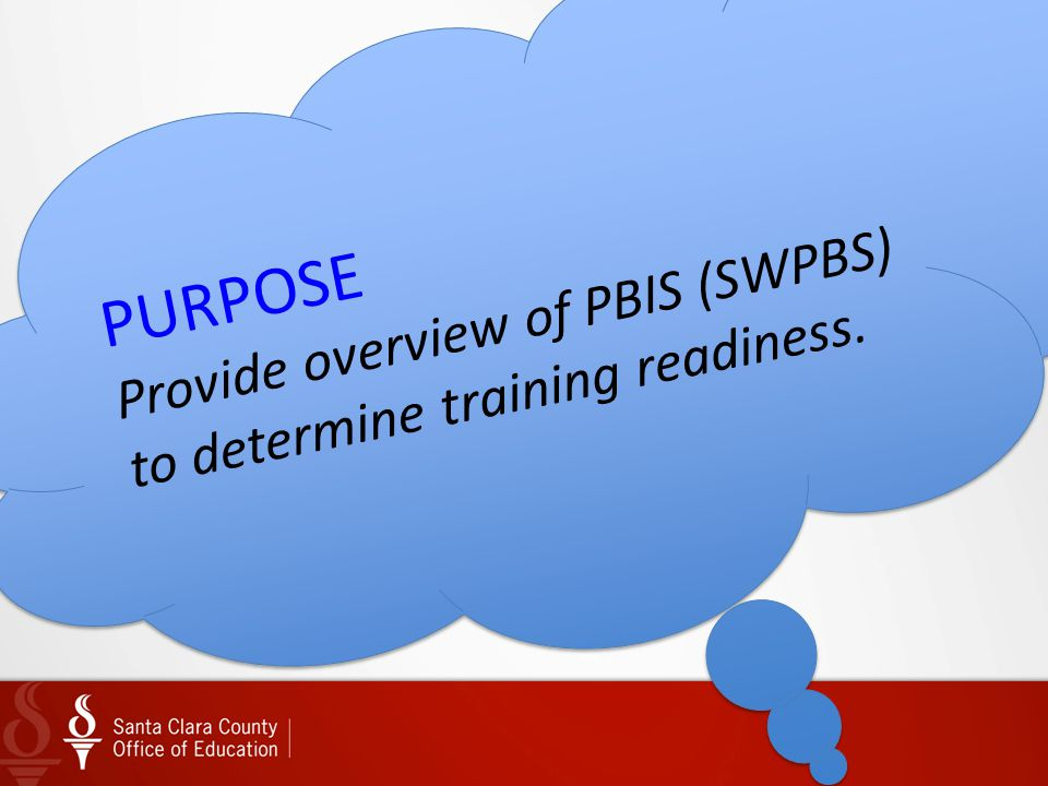 Provide overview of PBIS (SWPBS) to determine training readiness.