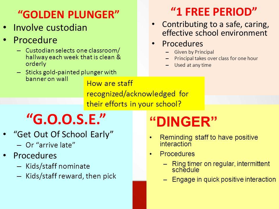 G.O.O.S.E. DINGER 1 FREE PERIOD GOLDEN PLUNGER