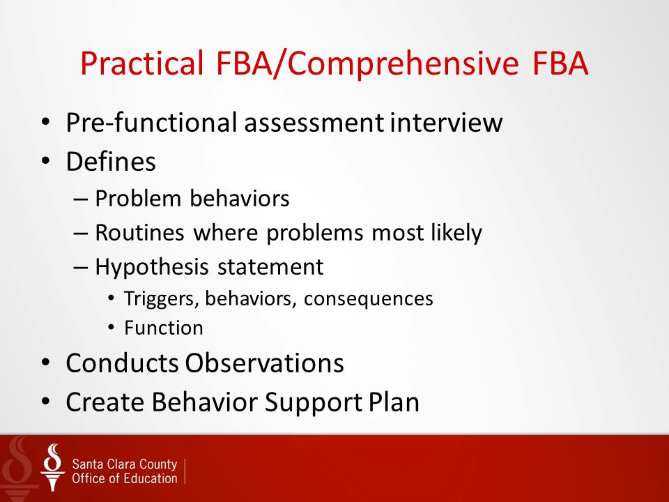 Practical FBA/Comprehensive FBA