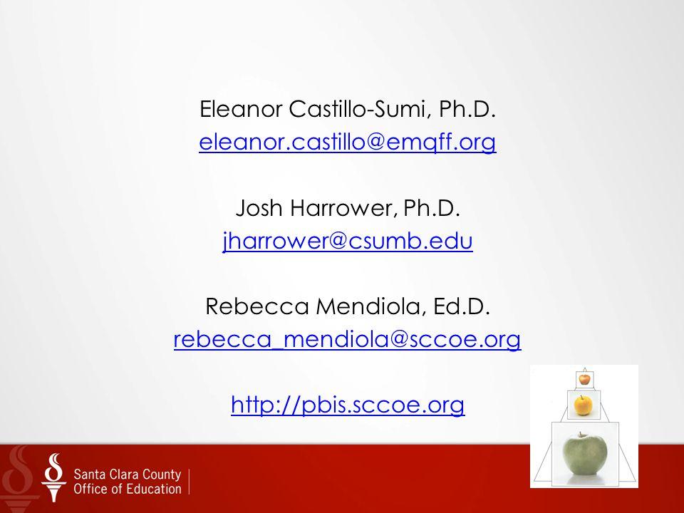 Eleanor Castillo-Sumi, Ph. D. eleanor. castillo@emqff