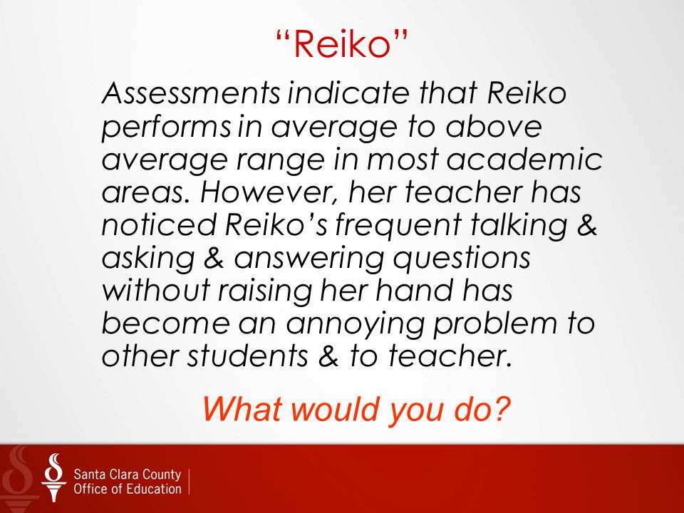 Reiko What would you do
