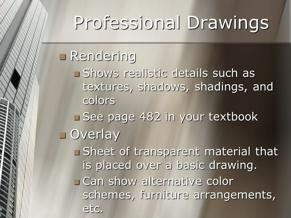 Professional Drawings