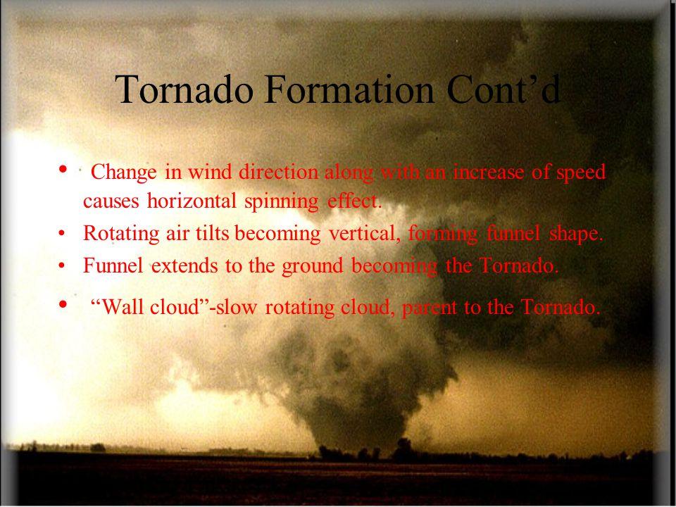 Tornado Formation Cont'd
