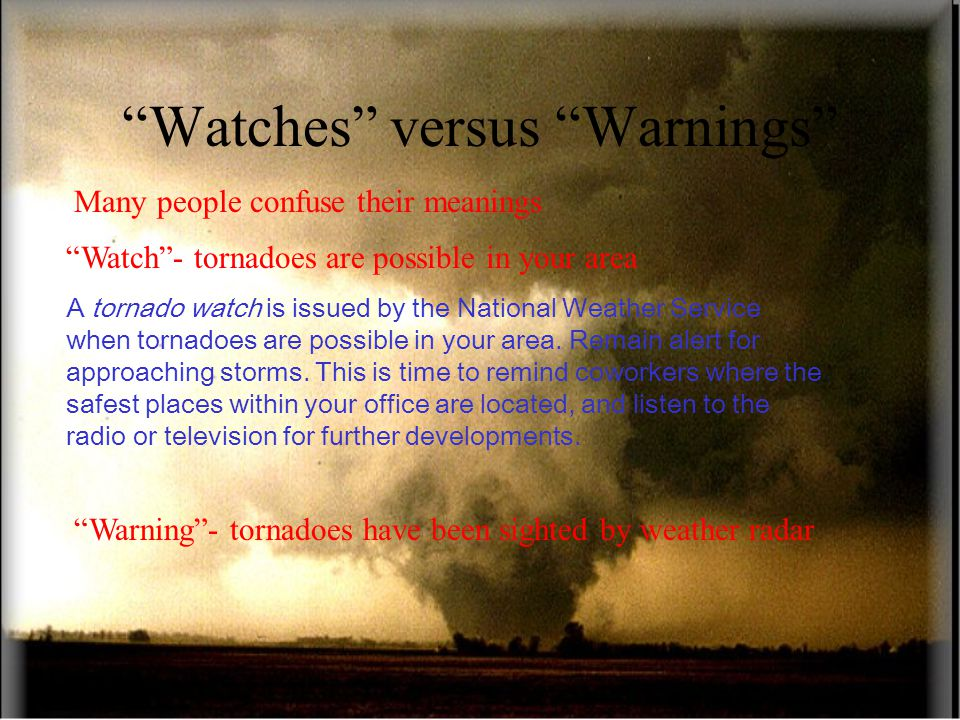 Watches versus Warnings