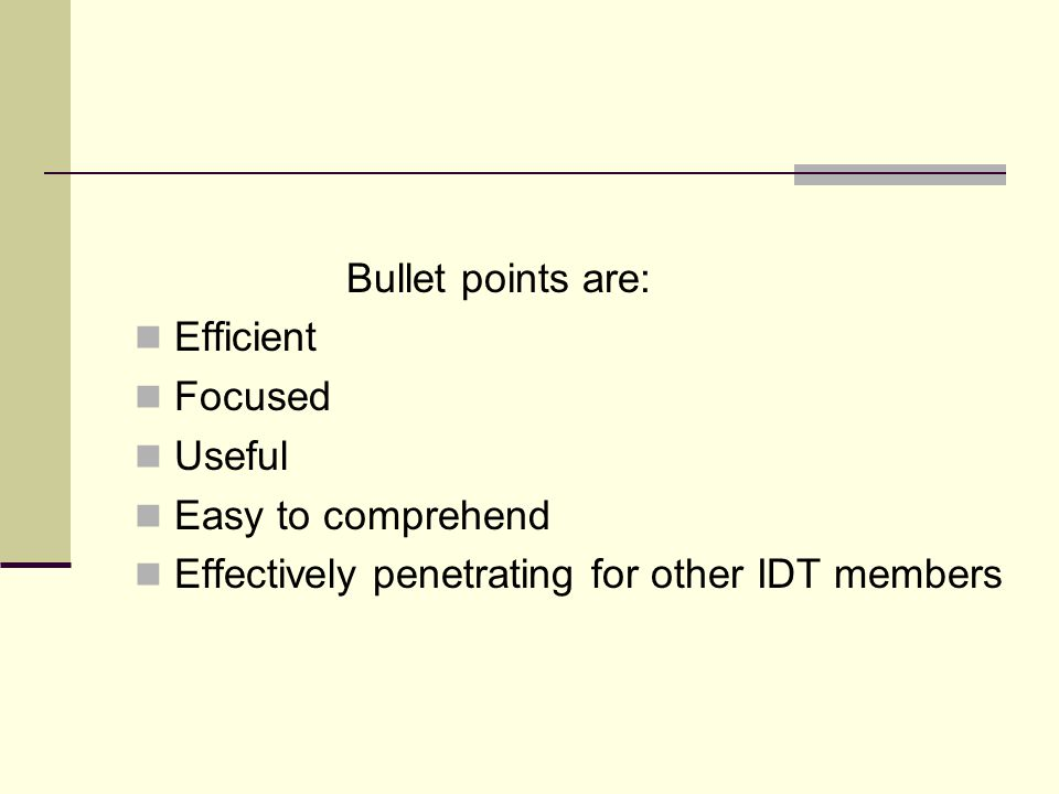 Bullet points are: Efficient. Focused. Useful.
