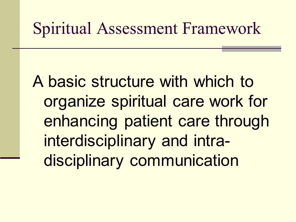 Spiritual Assessment Framework