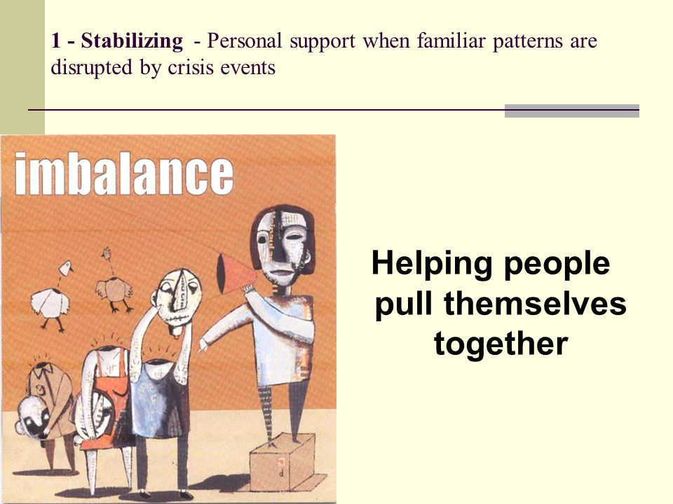 Helping people pull themselves together