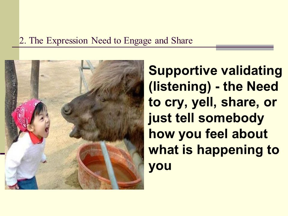 2. The Expression Need to Engage and Share