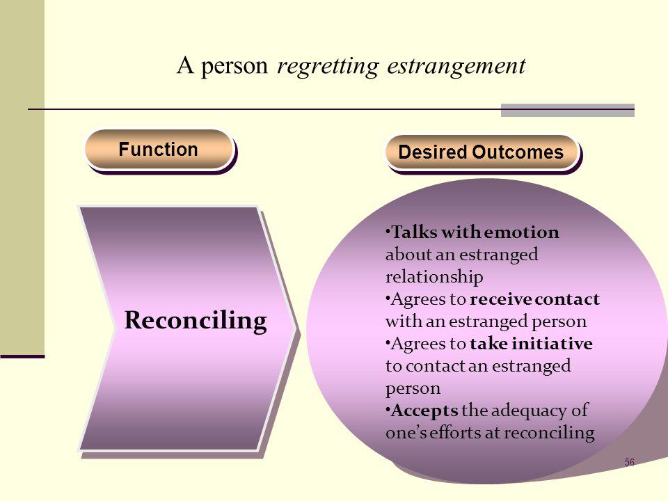 A person regretting estrangement
