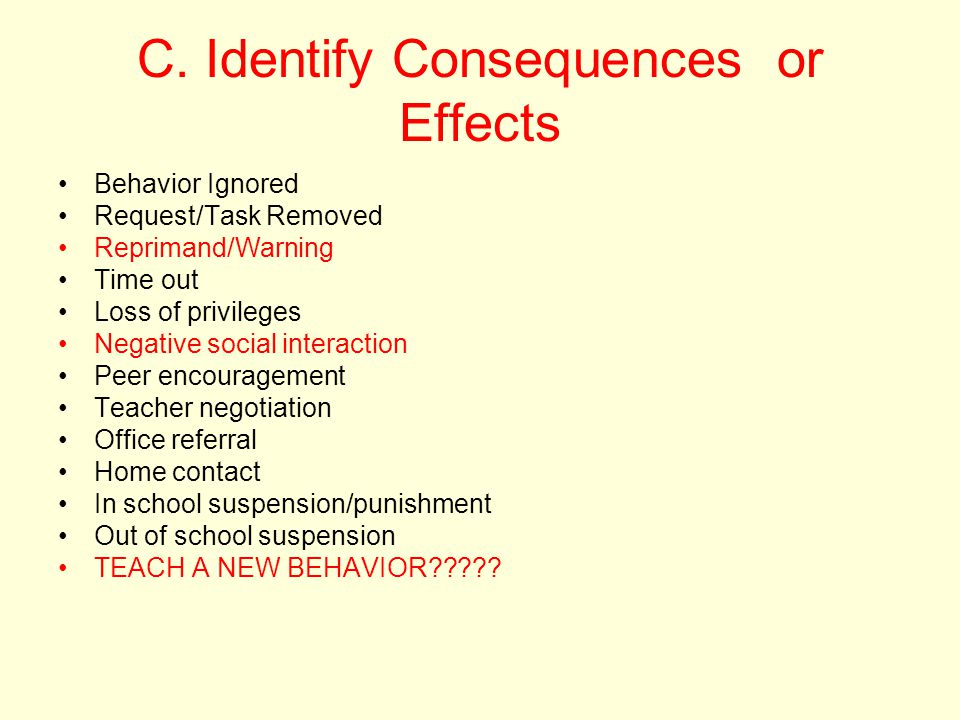 C. Identify Consequences or Effects