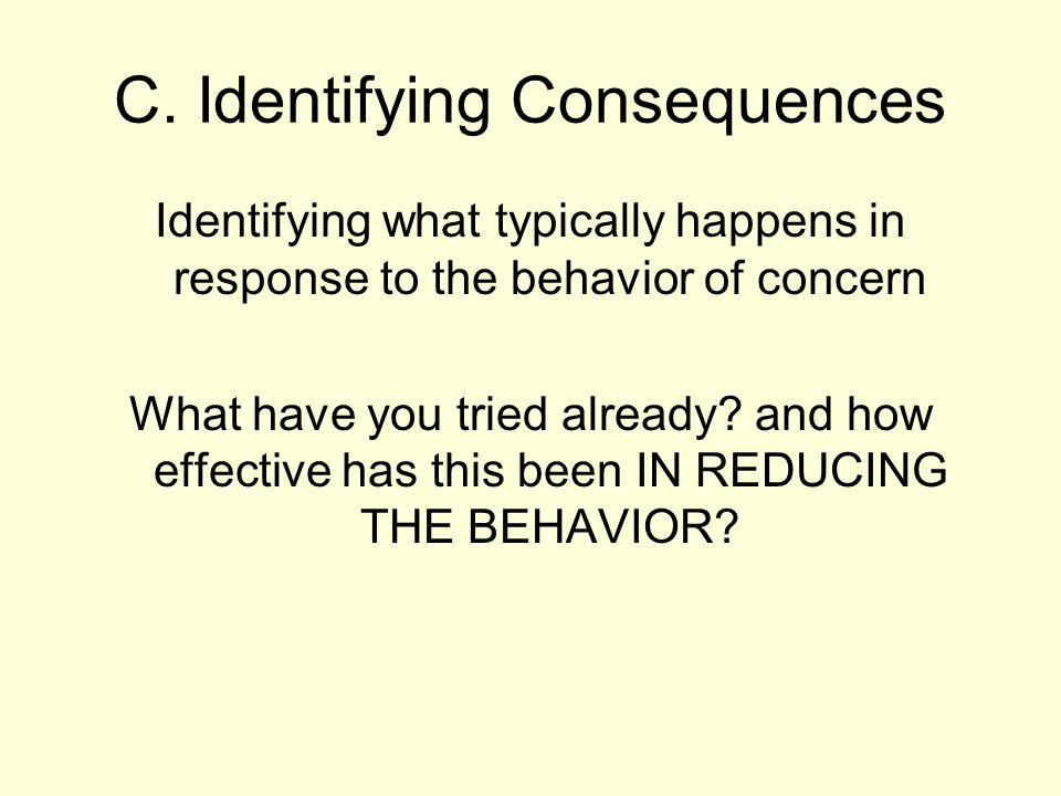 C. Identifying Consequences