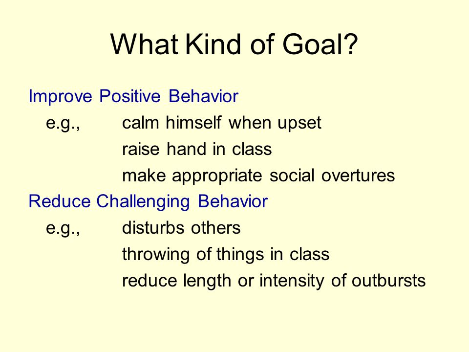 What Kind of Goal Improve Positive Behavior