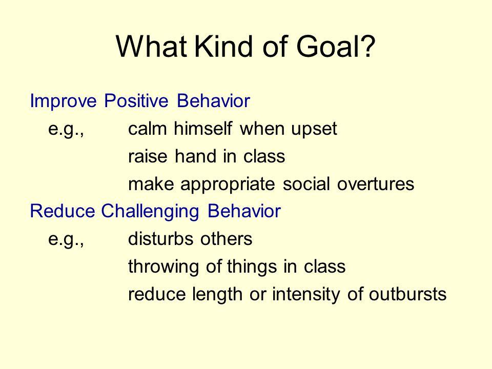 What Kind of Goal Improve Positive Behavior