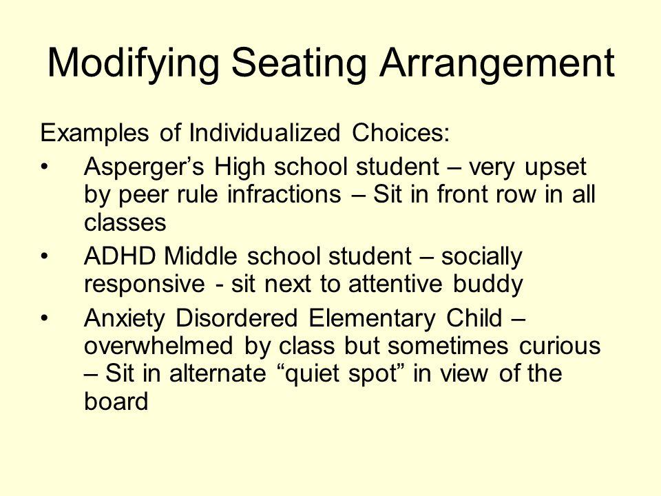 Modifying Seating Arrangement