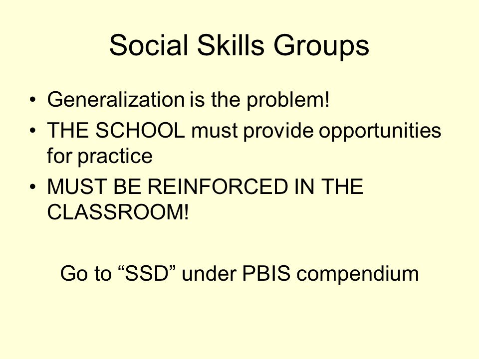 Go to SSD under PBIS compendium