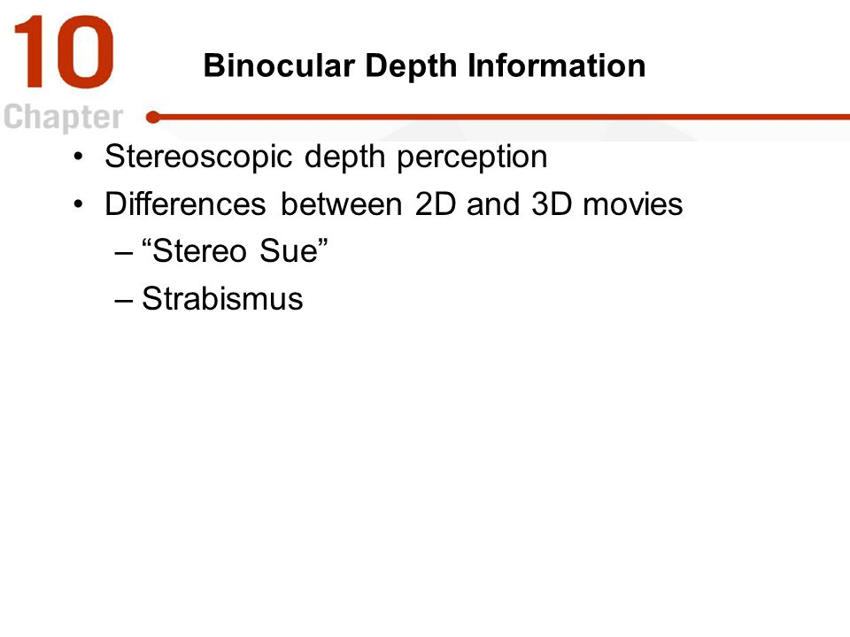 Binocular Depth Information