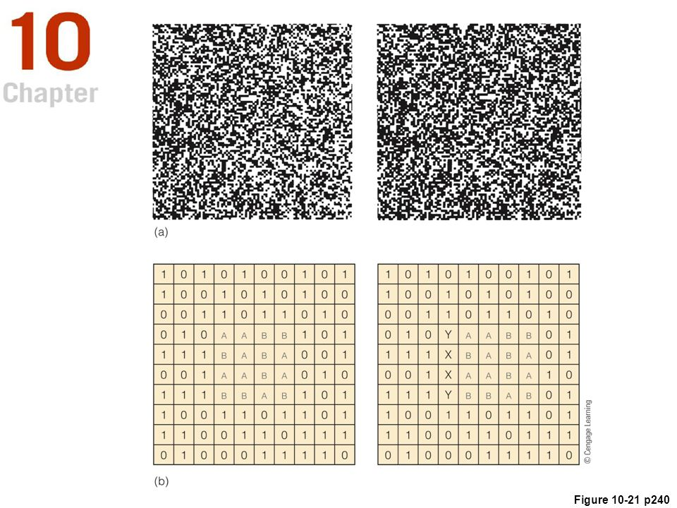 Figure 10. 21 (a) A random-dot stereogram