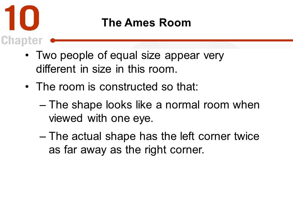 Two people of equal size appear very different in size in this room.