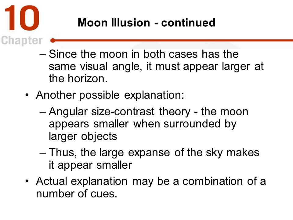 Moon Illusion - continued