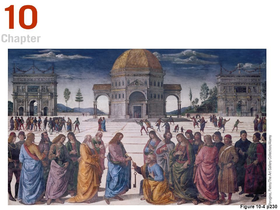 Figure 10. 4 Pietro Perugino. Christ Handing the Keys to St