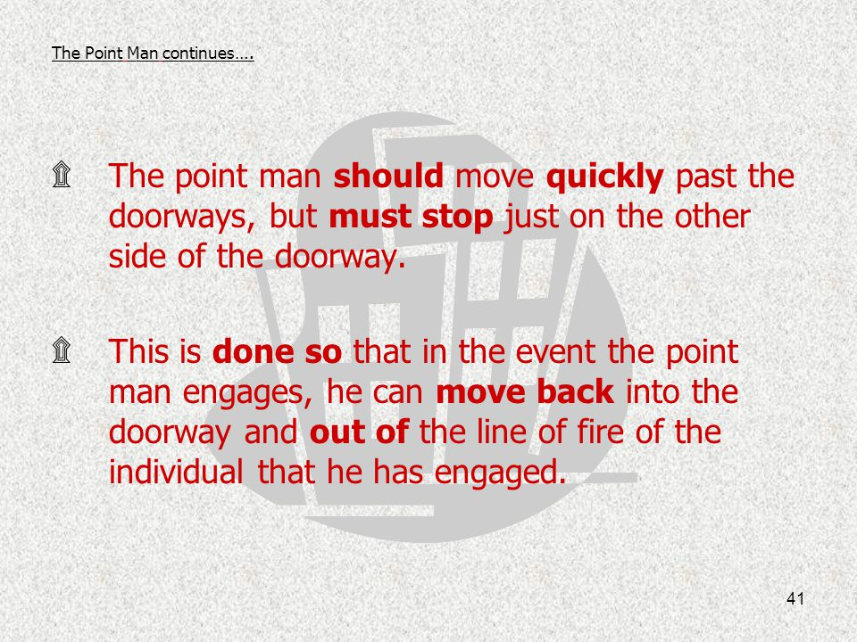 The Point Man continues….